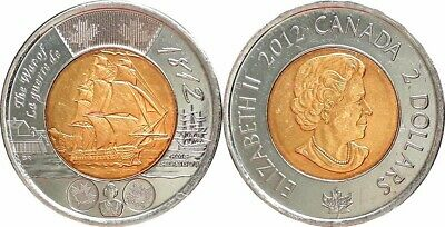 2012 CANADA PL 2 DOLLAR TOONIE - HMS SHANNON 1812  - Combined Shipping