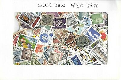 Sweden  - Collection / Packet - 450 Different  Stamps !!
