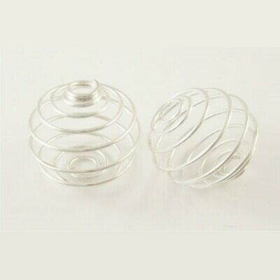 20 Iron Round Bead Cages 21x20mm Bead Holder Charm Pendant (G3)