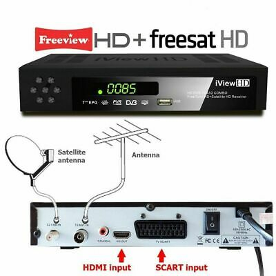 FULL HD COMBO Freeview HD & FREESAT HD Receiver + HD USB RECORDER TV Set Top Box