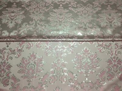 NEW Italian Designer Reversible Damask BROCADE GORGEOUS JACQUARD LUREX Fabric