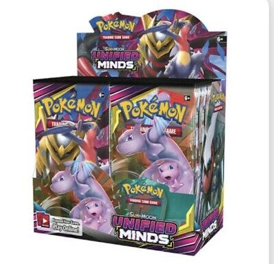 Unified Minds Booster Box Pokemon TCG 36 Booster Packs Sun & Moon PRESALE