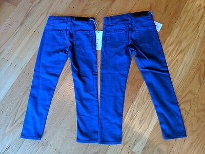 Two pairs Toddler Girls 3T pants Blue ESP 1 New with Tags