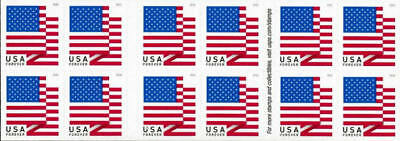 2018 50c American Flag, Red, White & Blue, Booklet of 20 Scott 5263 Mint VF NH
