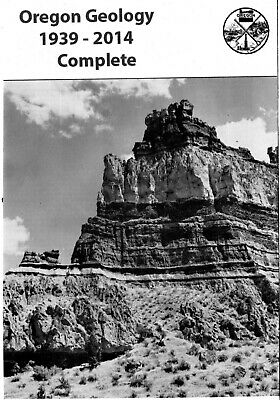 Oregon Geology journal, complete run on DVD (gold, fossils, petroglyphs, caves)