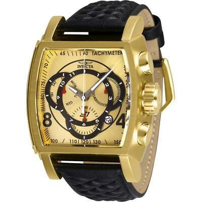 Invicta S1 Rally 27930 Men's Gold-Tone Genuine Leather Chronograph Watch