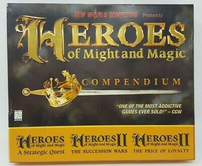 Heroes of Might and Magic Compendium Pack PC Windows 1997 Big Box Edition