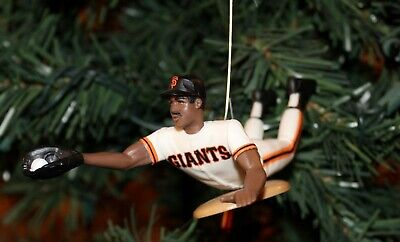 "Barry Bonds San Francisco Giants Dive Catch 5"" Baseball Christmas Tree Ornament"