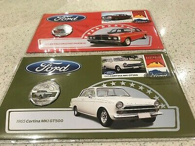 2017 PNC X 2 Ford XY Falcon & Cortina with RAM Limited Edition Colour 50c coin