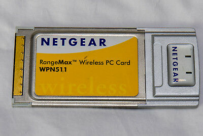 Netgear WPN511 RangeMax Wireless PC Card