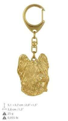 Briard Golden Plated Key Ring Solid Keychain UK 778