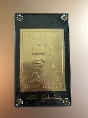 1994 Golden Legends Of Baseball Lou Gehrig 22KT Gold Card #GL3 Yankees