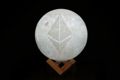 Ethereum CryptoCurrency 3D-Printed LED Moon Lamp