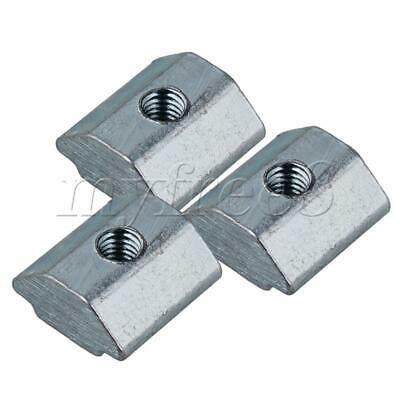 Silver Carbon Steel M3 Thread T Sliding Nuts 6mm Step Width Pack of 50