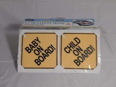 2 Car Safety Signs For Child BRAND NEW SEALED