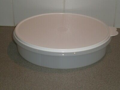 Tupperware 30cm round container with white lid New