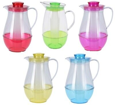 2 Litre Bright Coloured Juice Water Jug Pitcher With Removable Ice Stick Infuser