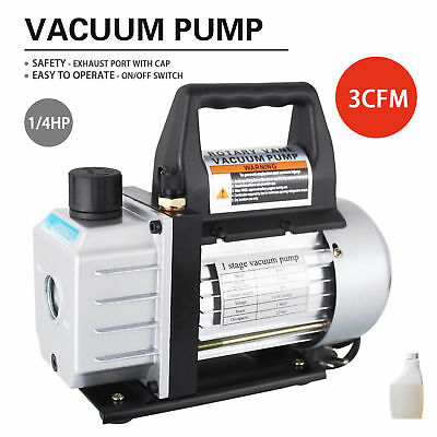 1/4HP 3 CFM Deep Vacuum Pump Black 110V HVAC AC Refrigerant Charge