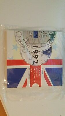 1992 United Kingdom Brilliant Uncirculated Coin Collection Still Sealed Mint