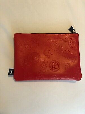 United Airlines Limited Edition SPIDER MAN BizClass AMENITY KIT Pouch RED