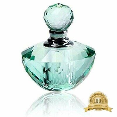 "H""D Vintage Light Green Crystal Empty Refillable Mini Perfume Bottle 4ML Beauty"