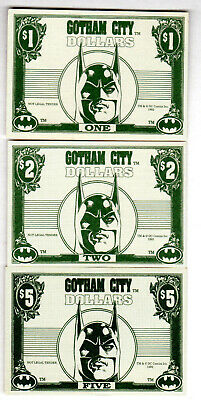 1992 Batman Gothic City Dollars From Trading Card Movie Series X 3