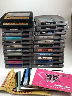 Nintendo Tested NES 23 Game Lot + Manuals LOOK Instant Collection