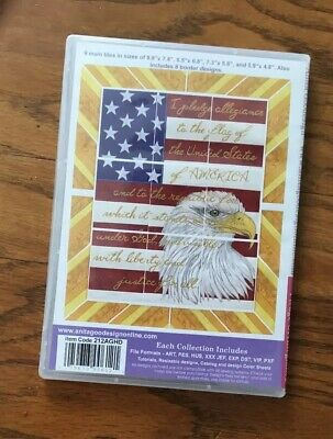 Anita Goodesign Embroidery CD Full Collection PLEDGE OF ALLEGIANCE