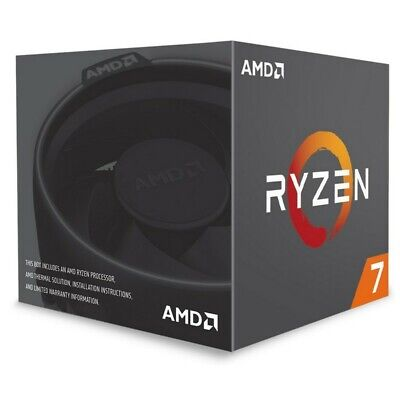 AMD Ryzen 7 2700 8-Core Socket AM4 3.2GHz CPU Processor with Wraith Spire LED Co