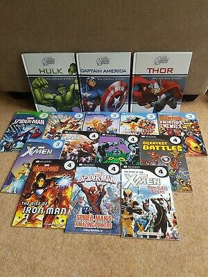 Marvel Learning To Read  - 12 books - Levels 2 3 4 Young DK Readers Collection