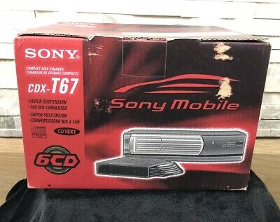 Sony CDX-T67 Compact Disk Changer Six Cds Mobile
