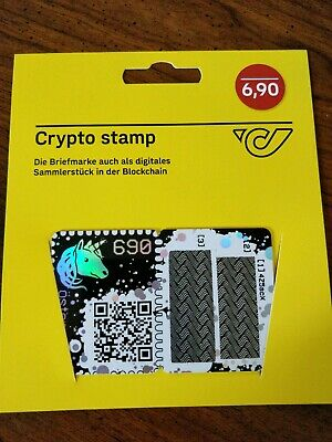 CRYPTO STAMP - BLUE edition - ltd 20k - Ethereum Cryptocurrency Collectible