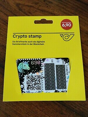 2019 - Austria - Crypto Stamp - Yellow Ethereum Cryptocurrency Collectible