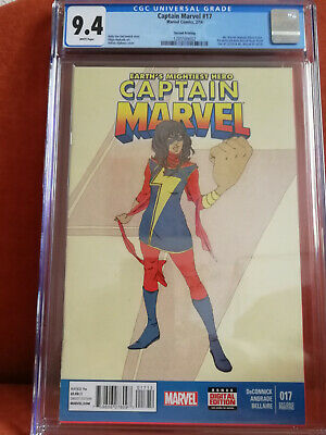 Captain Marvel #17 2nd Print Variant 1st Kamala Khan Ms Marvel CGC 9.4