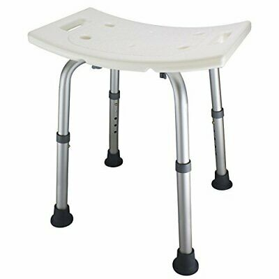 Ez2care Adjustable Lightweight Shower Bench,White,2 Sizes (18 inches)