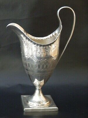 Rare Solid Silver Antique Georgian Cream Jug, London 1790,  18th century
