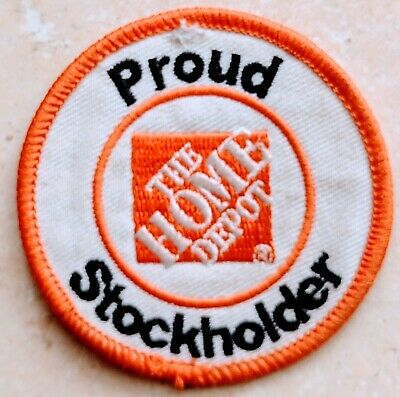 Home Depot Apron Badge: Proud Stockholder (patch, pin, swag)
