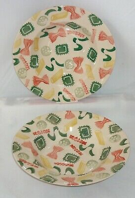 EMMA BRIDGEWATER - Pair of Rimmed Bowls in Pasta Shapes Pattern 1994 & '95 Stamp