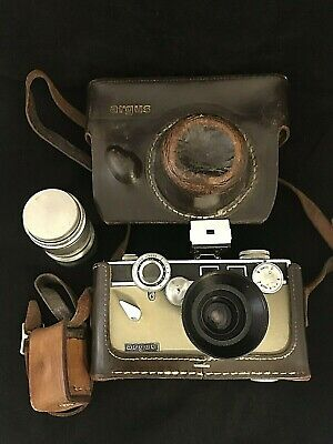 Vintage Argus Film Camera w/  Enna Werks Germany Wide Angle and 100mm Lenses
