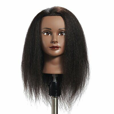 Hairginkgo 100% Real Hair Mannequin Head Hairdresser Training Head Manikin Cosme
