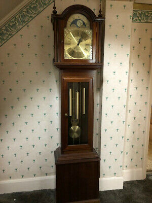 1980's Fenclocks Grandmother Long Case Clock. 3 chimes. 1m 95cm tall.