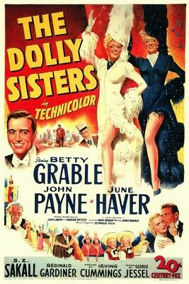 Vintage Movie 16mm The Dolly Sisters Feature 1945 Film Adventure Drama