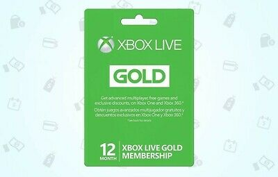 Abonnement Xbox Live Gold 12 mois / Xbox Live Gold Membership 12 month