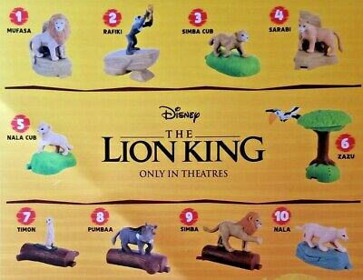 The Lion King 2019 McDonalds Happy Meal ALL Toys #1-#10 & SETS $2.99 Ships ALL