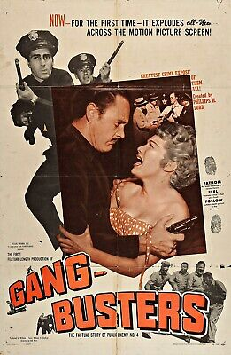 Vintage Movie 16mm GANG BUSTERS Feature 1955 Film Prison Drama