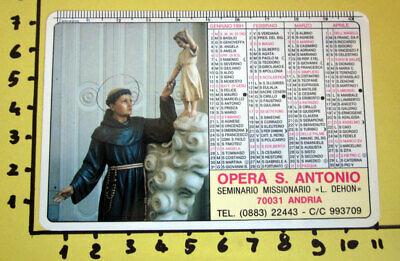 Opera S. Antonio 1991   Calendario Tascabile Plastificato