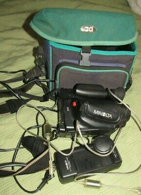 Minolta MASTER C-550 COMPACT VHS CAMCORDER & BATTERY CHARGER UNTESTED