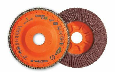 Walter 15Q704 ENDURO-FLEX Abrasive Flap Disc [Pack of 10] - 40 Grit, 7 in. Gr...