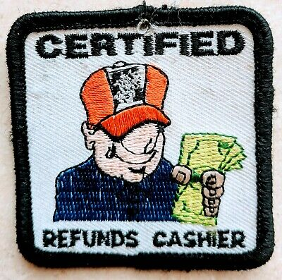 Home Depot Apron Badge: Certified Refund Cashier (patch, pin, swag)