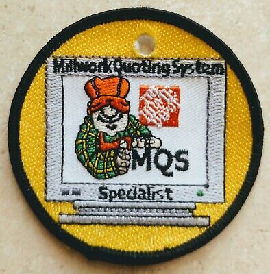 Home Depot Apron Badge: Millwork Writing System Specialist (patch, pin, swag)